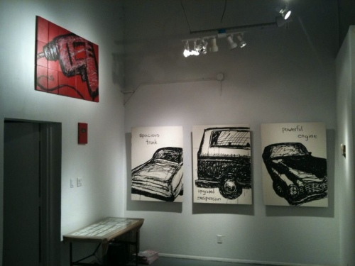 The drill at Bay 6 gallery by J. haley mixed media art