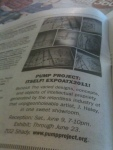 This is a totally awesome image of a print spot in the austin chronicle for the J. Haley Art Institute
