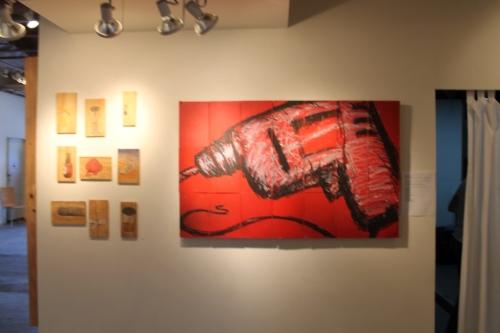 Drill piece at pump project art complex